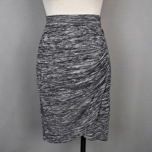 (Joe Fresh) Hatchi Stretch Skirt in Heather Grey